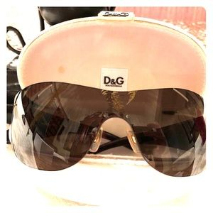 Authentic Dolce & Gabbana Oversize Sunglasses